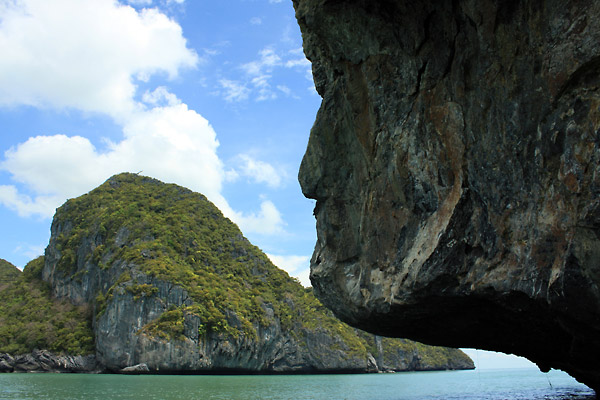 Rock Mysterious face Ang Thong National Marine park